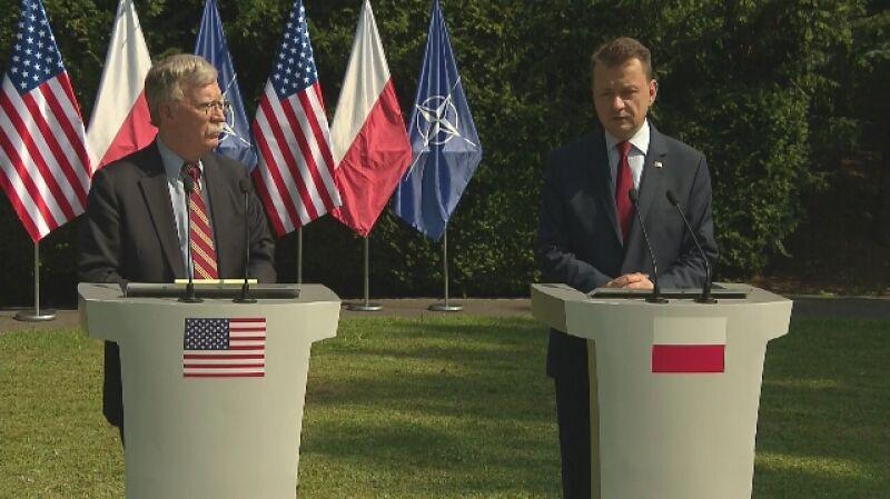Błaszczak po spotkaniu z Boltonem: rozmawialiśmy o kolejnej lokalizacji dla wojsk amerykańskich