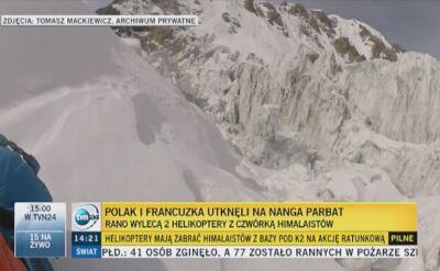 Janusz Majer: dwa helikoptery w akcji ratunkowej