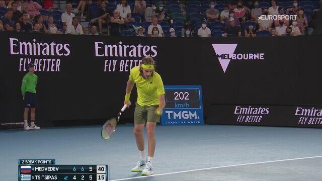 Przełamanie Miedwiediewa w trzecim secie półfinału Australian Open