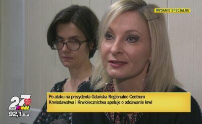 Po ataku na prezydenta Gdańsk Centrum Krwiodawstwa apeluje o oddanie krwi