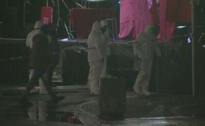 Technicy policyjni zabezpieczają ślady po ataku na Pawła Adamowicza