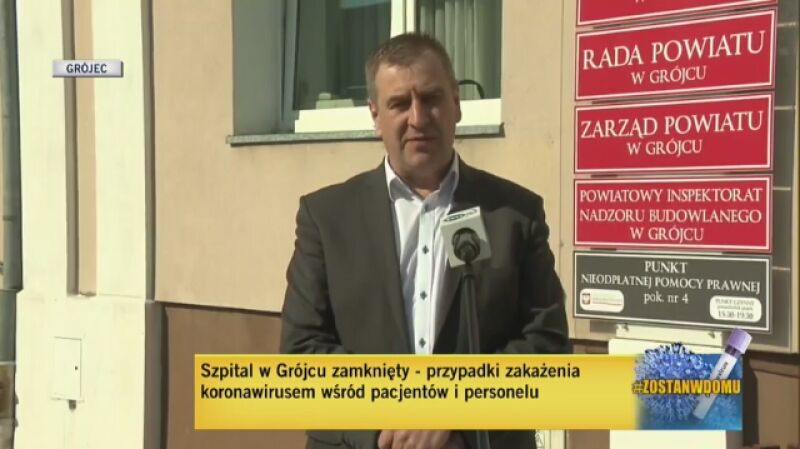 Przypadki zakażenia personelu i pacjentów w szpitalu w Grójcu (materiał z 23 marca)