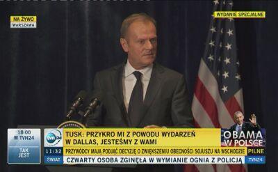 Tusk: nie ma wolności w Europie bez euroatlantyckiej solidarności