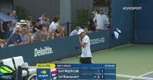 Majchrzak dwukrotnie przełamany w 2. secie 1. rundy US Open
