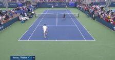 Hurkacz i Walków wygrali 1. seta w 1. rundzie debla US Open