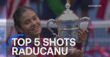 Najlepsze zagrania Emmy Raducanu w turnieju US Open