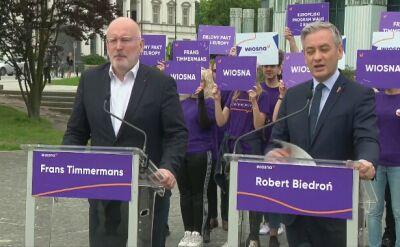 Biedroń: w wyborach do europarlamentu decydować się będą losy naszego kraju