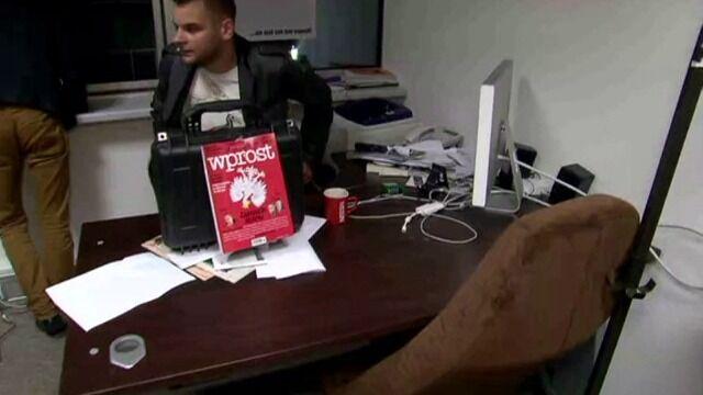 """Gabinet redaktora naczelnego """"Wprost"""" po wizycie ABW"""