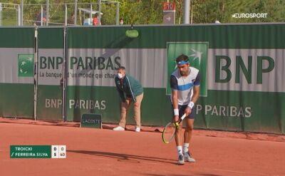 Fatalny set w wykonaniu Troickiego w kwalifikacjach do French Open