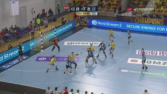 Piękny gol dla MOL-Pick Szeged w meczu z Łomża Vive Kielce