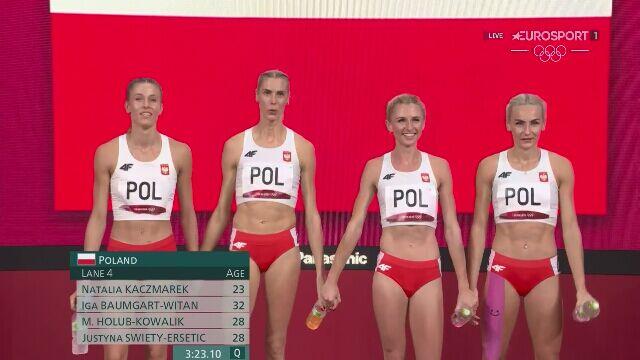 Tokio. Lekkoatletyka: cały bieg Polek po srebrny medal w sztafecie 4x400 m