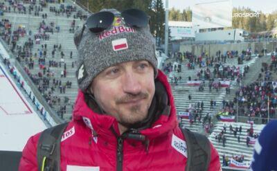 Adam Małysz po konkursie w Oslo