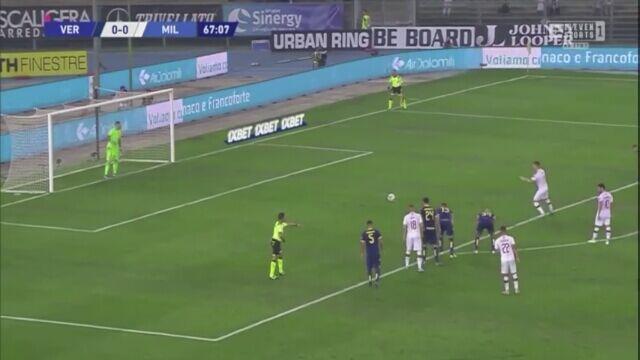 Krzysztof Piątek - gol przeciwko Hellasowi