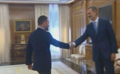 Król Hiszpanii podczas konsultacji politycznych