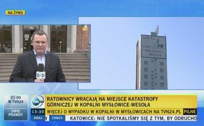 Po godzinie 13 ratownicy wrócili do kopalni w Mysłowicach, by odszukać ostatniego z górników