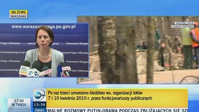 Śledztwo ws. organizacji lotów do Smoleńska umorzone