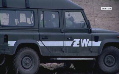 Żandarmeria Wojskowa w okolicy miejsca zdarzenia