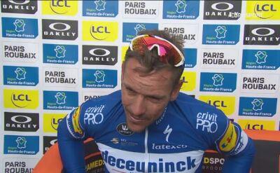 Gilbert po wygraniu Paryż - Roubaix