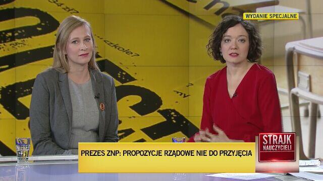 Agata Szczęśniak o taktyce rządu wobec nauczycieli