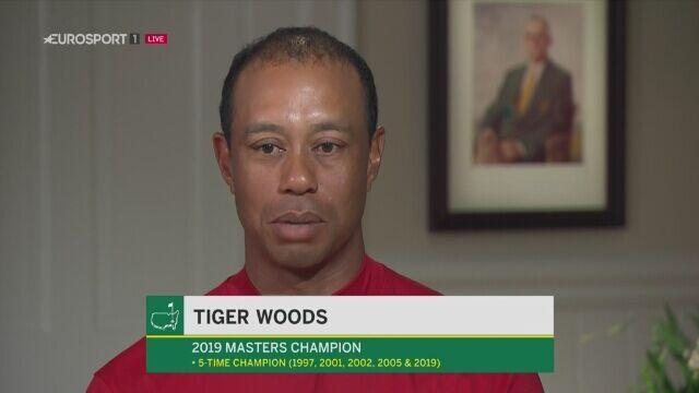 Tiger Woods po wygraniu turnieju Masters w Auguście