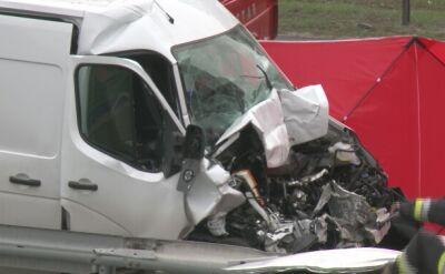 Wypadek na A2. Jedna osoba nie żyje, dwie są ranne