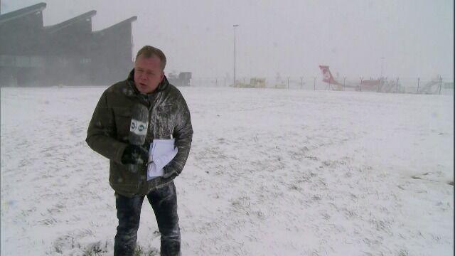 Ludzie bez prądu, odwołane loty. Orkan oczami reporterów TVN24
