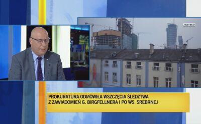 """Parchimowicz: sprawy """"wież Kaczyńskiego"""" nie prowadziła prokurator Śpiewak"""