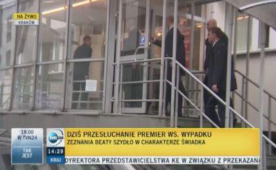 Premier Szydło już w prokuraturze. Przesłuchanie w sprawie wypadku