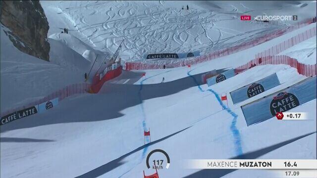 Jazda figurowa na nartach podczas zjazdu na MŚ w Cortinie