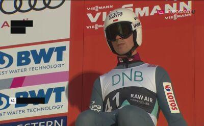 Skok Piotra Żyły z 2. serii konkursu indywidualnego w Lillehammer