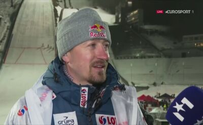 Adam Małysz po konkursie w Lillehammer