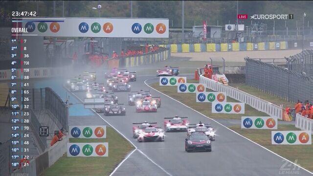 Start wyścigu 24h Le Mans i pierwsza kolizja