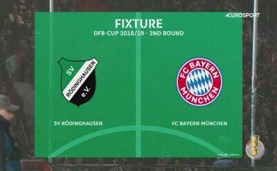 Bayern - SV Roedinghausen, skrót meczu 2. rundy Pucharu Niemiec