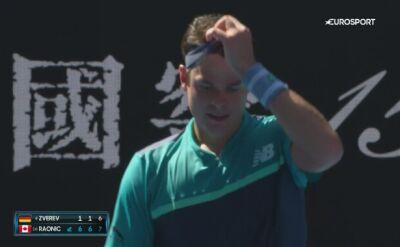 Skrót meczu Raonic - Zverev w 4. rundzie Australian Open
