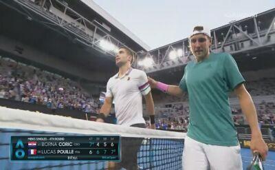 Skrót meczu Corić - Pouille w 4. rundzie Australian Open