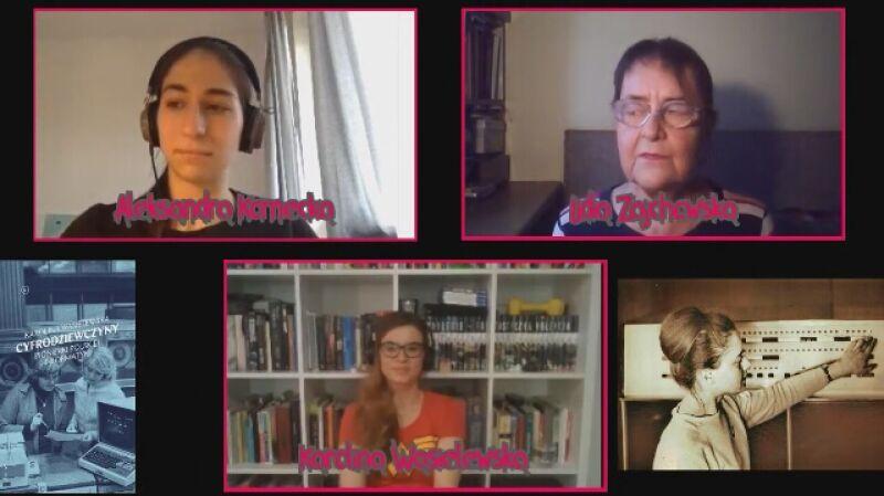Karolina Wasielewska w rozmowie z Lidią Zajchowską, jedną z bohaterek książki