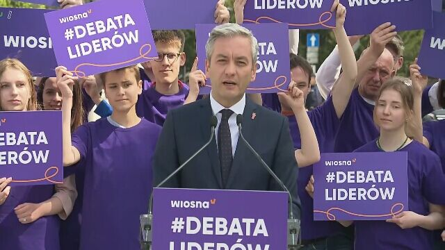 """Biedroń proponuje debatę Schetynie i Kaczyńskiemu. """"Pośmialiśmy się"""""""