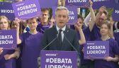 Biedroń proponuje debatę Schetynie i Kaczyńskiemu