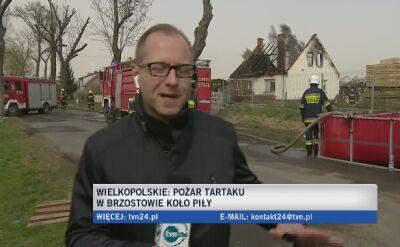 Pożar tartaku w Brzostowie