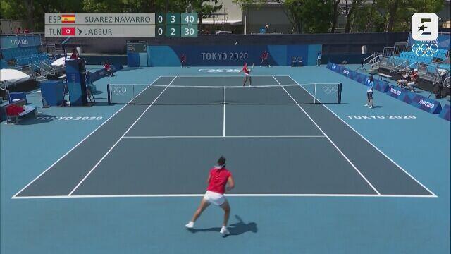 Tokio. Tenis kobiet. Skrót meczu Navarro - Jabeur