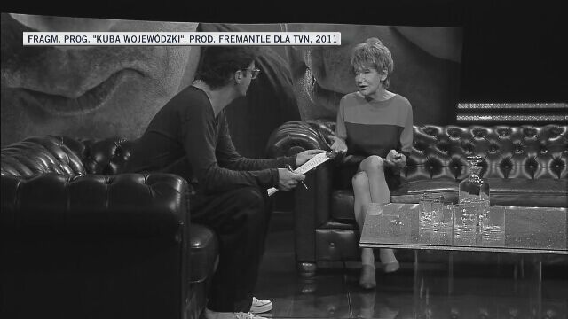 """Maria Czubaszek: moja metryka zaginęła w trakcie którejś wojny (""""Kuba Wojewódzki"""", 2011 r.)"""