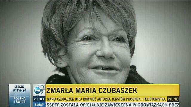 Maria Czubaszek Nie żyje Miała 76 Lat