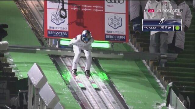 Nieudany skok Ryoyu Kobayashiego w 2. serii konkursu w Sapporo