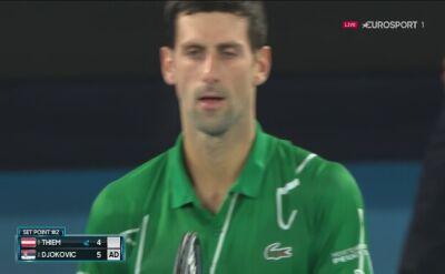 Thiem fatalnie skończył 1. seta w meczu z Djokoviciem