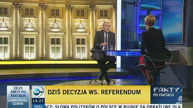 """""""Decyzja o wpisaniu referendum w datę wyborów byłaby polityczna"""""""