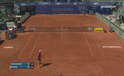 Skrót meczu Chaczanow - Novak w Thiem's 7