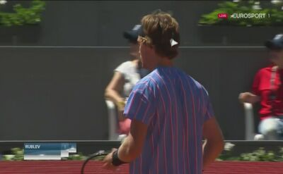 Andrij Rublow wyrównał stan meczu ze Struffem