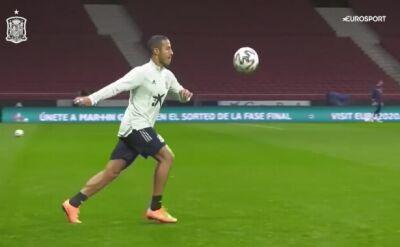 Thiago i Rodri czarowali na treningu reprezentacji Hiszpanii