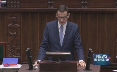Poland's PM Morawiecki gave an expose in the parliament