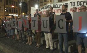Protest przeciwko zmianom w sądownictwie we Wrocławiu
